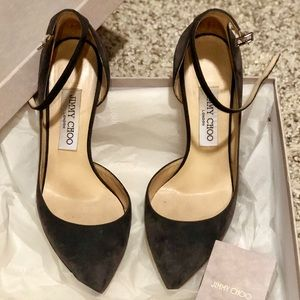 JIMMY CHOO | Lucy Suede Pointy Toe Pumps